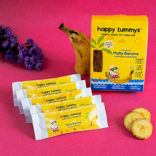 Preservative Free Malty Banana Snack Bars (Pack of 5) at Qtrove