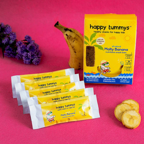 Preservative Free Malty Banana Snack Bars (Pack of 5)