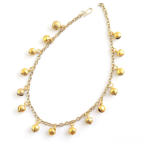 Gold Bells Ghungroo Indian Ethnic Anklet Festive Wear Boho Jewellery at Qtrove