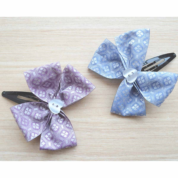 Heart Lace Pastel Hair Bow Gift Set (White Silver Pink Lavender and Blue) (Set of 2) at Qtrove