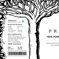 100% Pure Cold-Pressed Pomegranate Juice