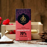 70% Himalayan Pink Salt Belgian Dark Chocolate
