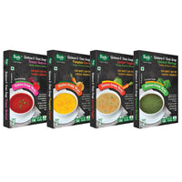 Quinoa & Oats Soupy Meal (Ready To Cook) (Pack of 4) (Tomato Beetroot + Spinach Moringa + Pumpkin Carrot + Garden Veggie)