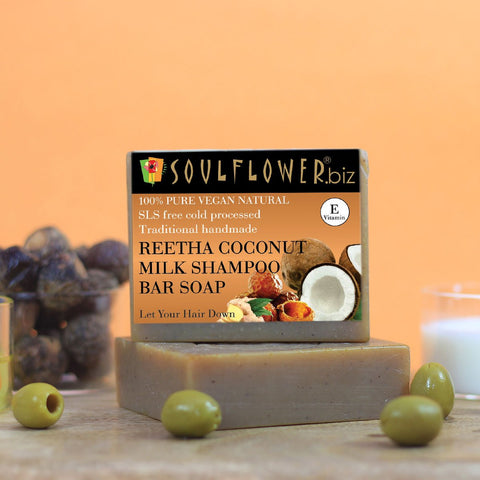Reetha Coconut Milk Shampoo Bar Soap