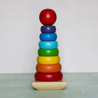 Eco-Friendly Wooden Rainbow Stacker