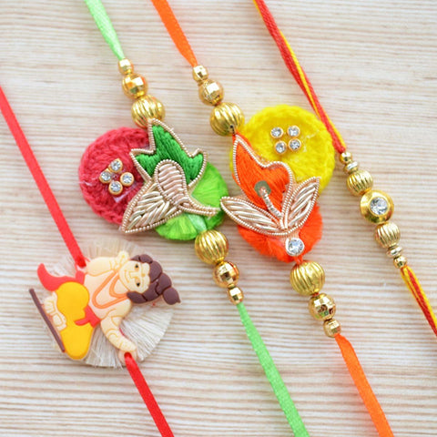 Handcrafted Rakhi For Brother (Set of 4)