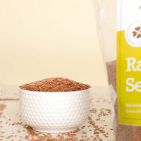 Raw Flax Seeds [Raw, Souce Of Fiber & Omega ]