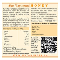 Raw Honey- 100% Pure & Chemical Free
