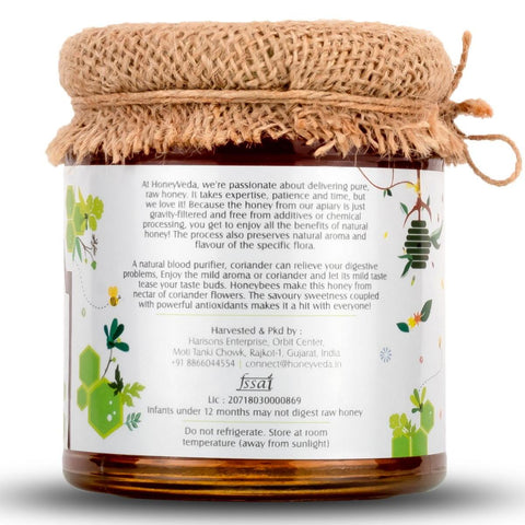 Raw Honey - Coriander Honey (100% Natural Unprocessed)
