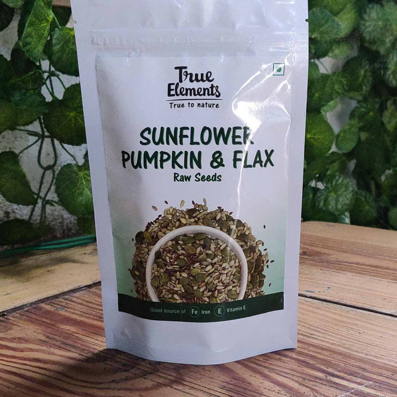 Raw Sunflower, Pumpkin and Flax Seeds (Pack of 2)