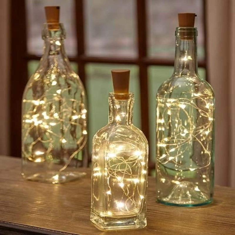 Recycled Glass Bottles with LED