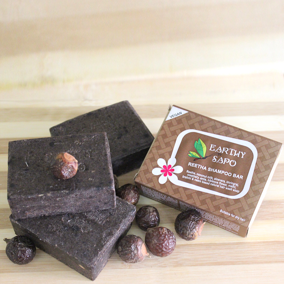 Earthy Sapo Reetha Shampoo Bar- Handmade & Suitable For Dry Hair