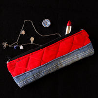 Denim Pouch (Blue & Red Combo)