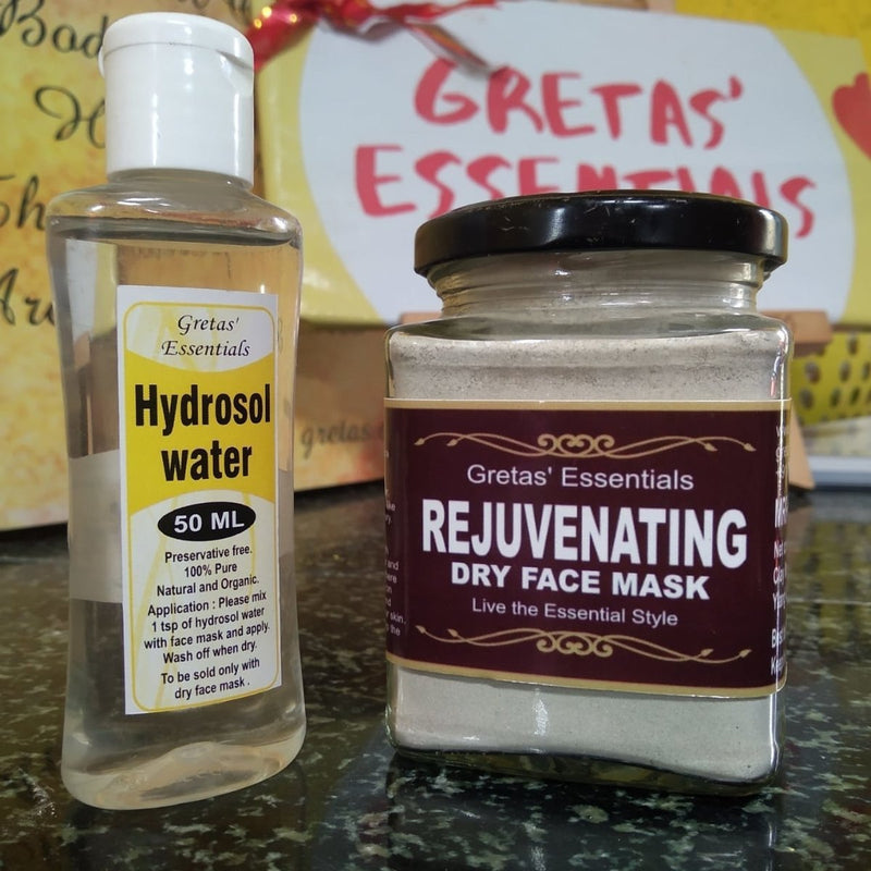 Rejuvenating Face Mask Dry With Hydrosol Water