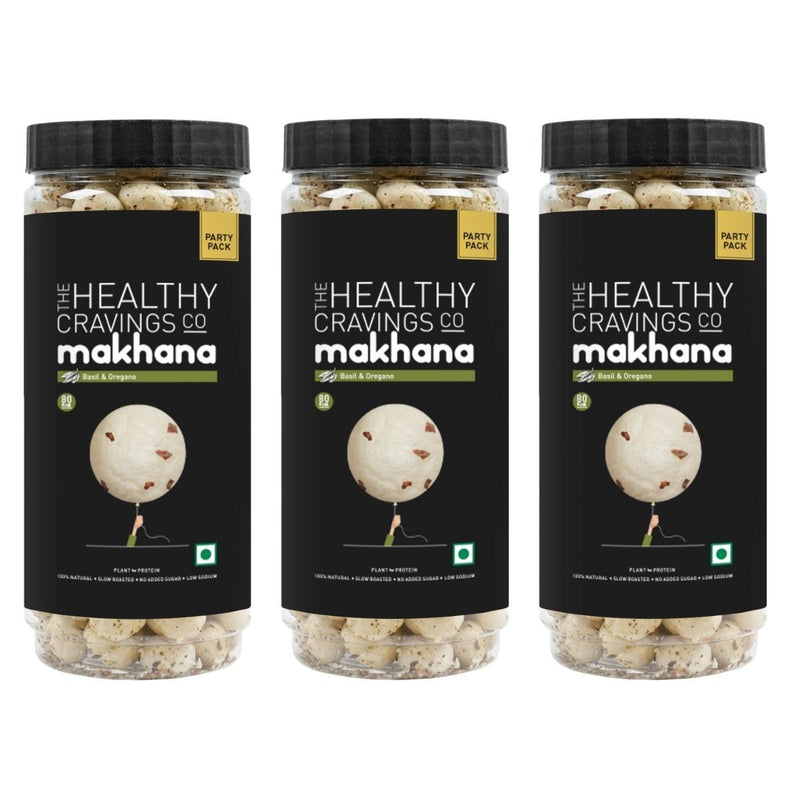 Snack Jars - Slow Roasted Makhana - Basil & Oregano Flavor