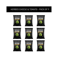 The Healthy Cravings Co - Roasted Pea Pops - Herbed Cheese & Tomato (Pack of 9, 25g each)