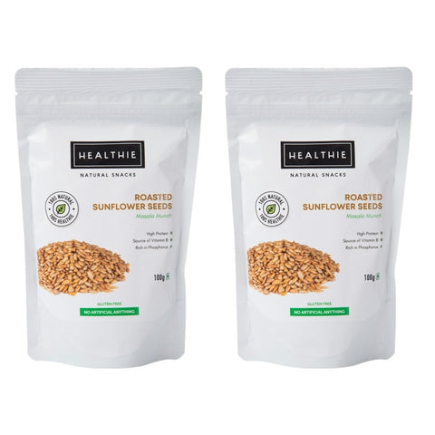 Healthie Roasted Sunflower Seeds-Masala Munch -100 gm (Pack of 2)