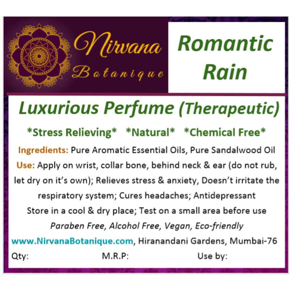 Romantic Rain Luxurious Perfume (Therapeutic) at Qtrove