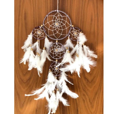 White and Brown 4 Tier - Handmade Hangings For Positivity