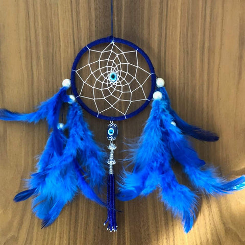 Evil eye and Owl Car Hanging - Handmade Hangings For Positivity