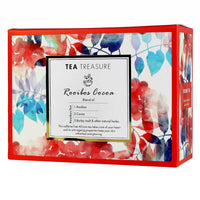 TeaTreasure Rooibos Cocoa Red Tea - 18 Pyramid Tea Bags