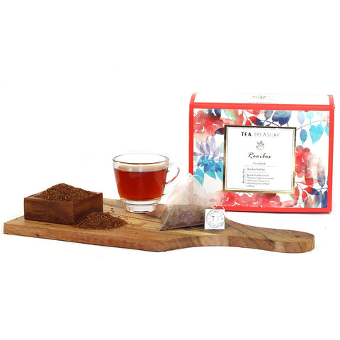 TeaTreasure Rooibos Red Tea - 18 Pyramid Tea Bags