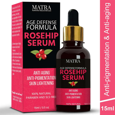 Rosehip Seed Oil Age-defense Serum for Anti-aging, Anti-pigmentation and Skin Lightening