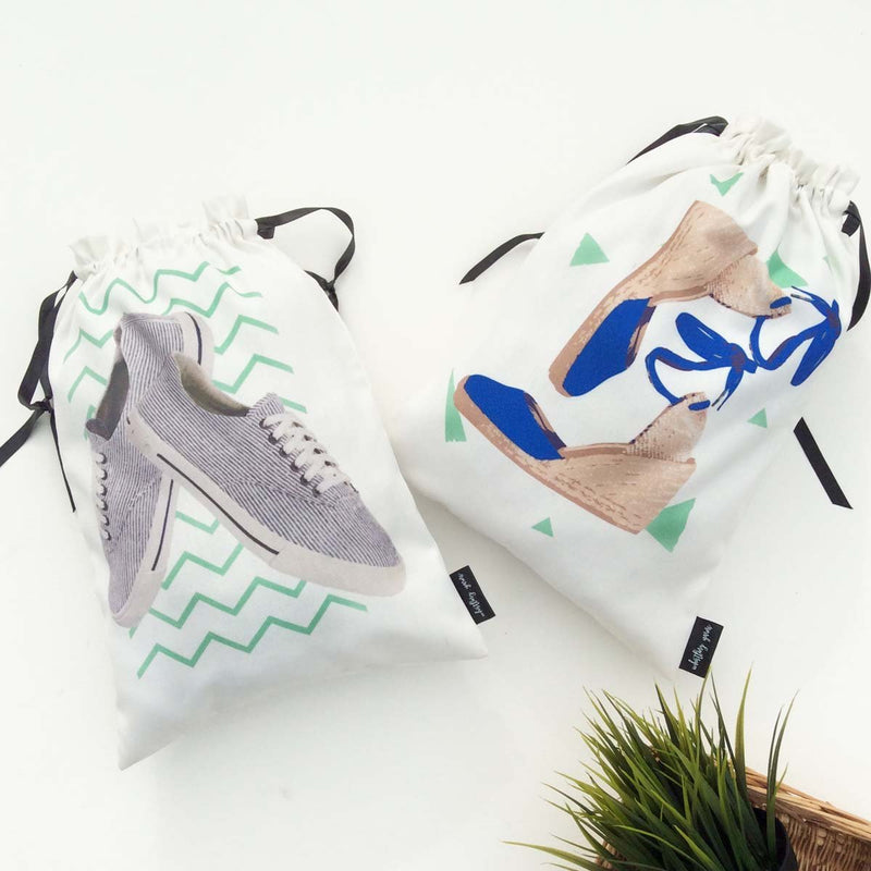 Shoe Bags {crazy duo} - 2 Bags
