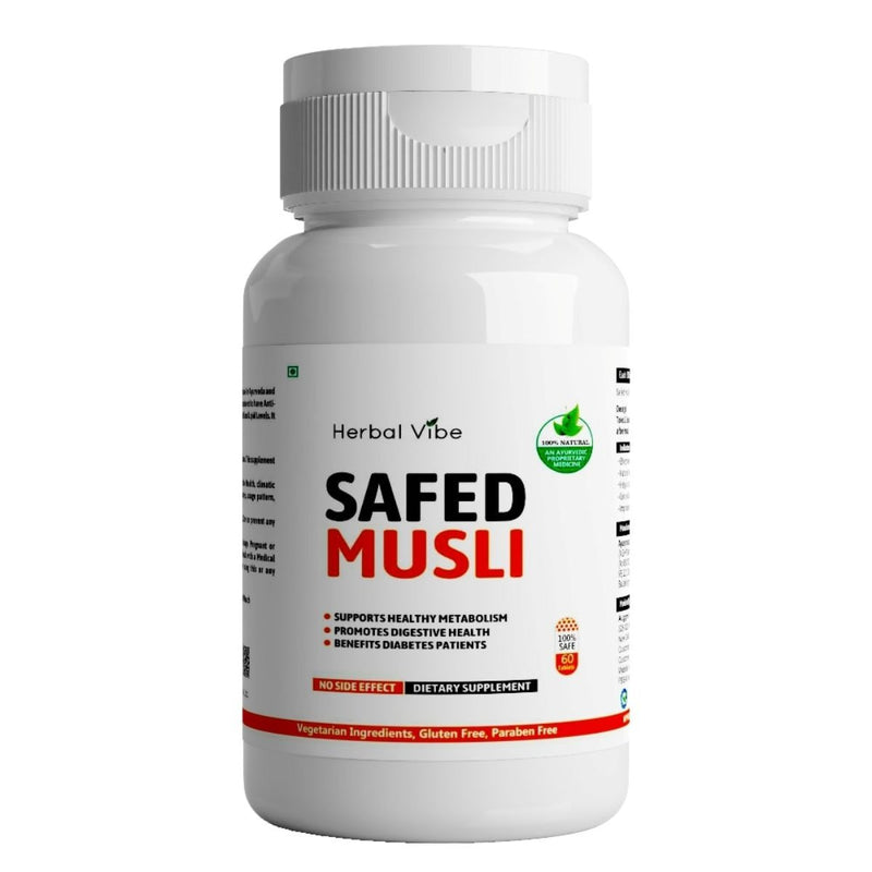 Safed Musli Capsules (Stamina, Strength Booster)