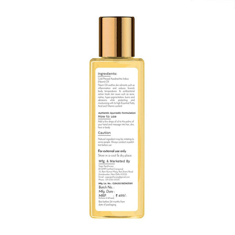 Sage Apothecary Neem Oil