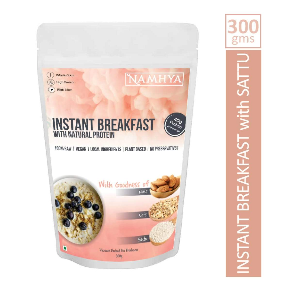 Instant Breakfast Cereal With Sattu,Oats and Nuts