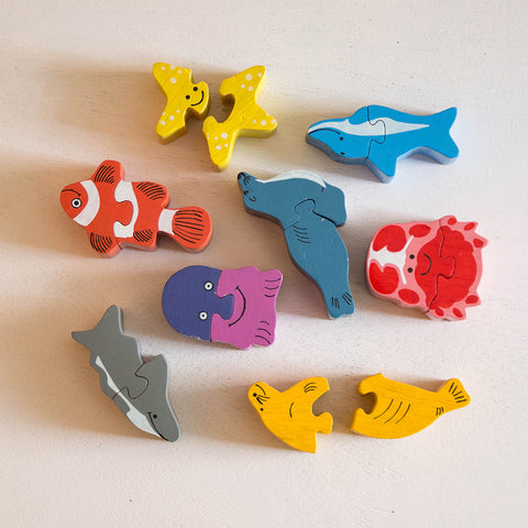 Eco-Friendly Wooden Sea World Puzzle