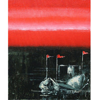 Seaside Boats Painting (Set of 3, Unframed)