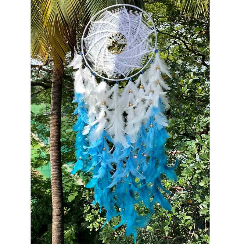 Serenity White & Blue  Wall Hanging
