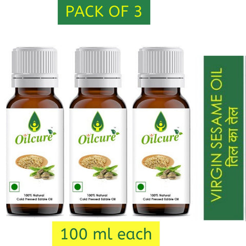 Sesame Oil Cold Pressed (Pack of 3)