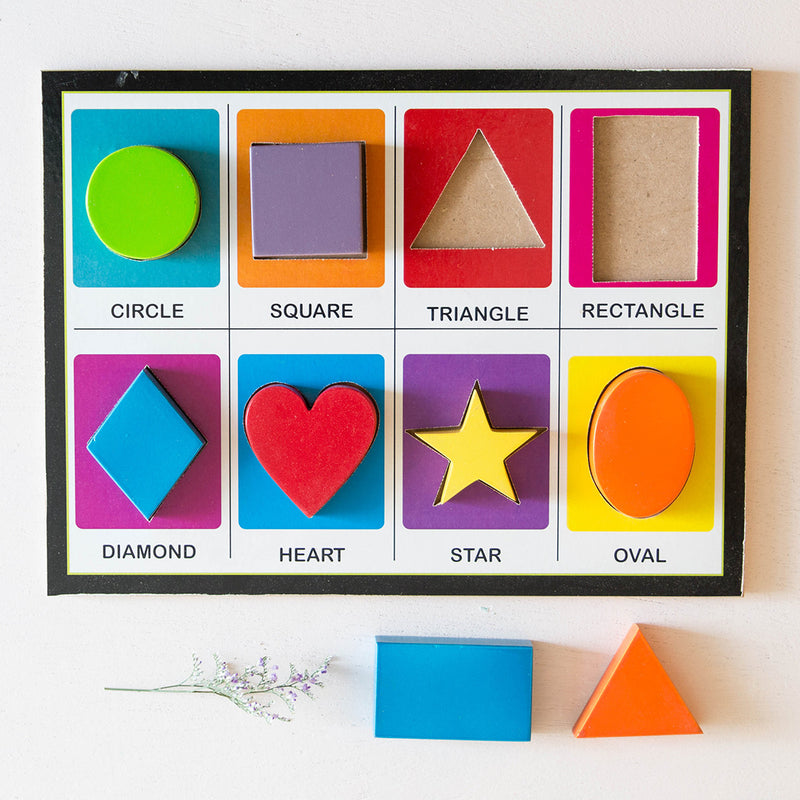Eco-Friendly Wooden Shape Board Puzzle