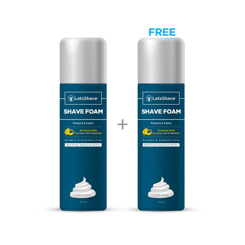 Shave Foam Shave Foam - Coconut Oil Enriched (1 + 1 Free)