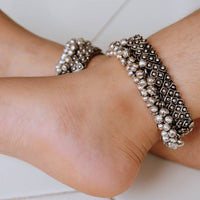 Silver Bracelet Cum Anklet For Kids