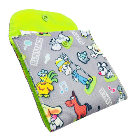 Silver Ranch SanitaryPad Pouch Two Pockets Neon Green Lining