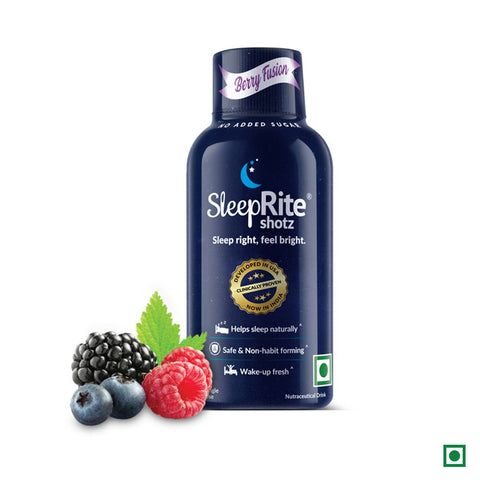 SleepRite shotz - Berry Fusion (Pack of 4) (60ml Each)