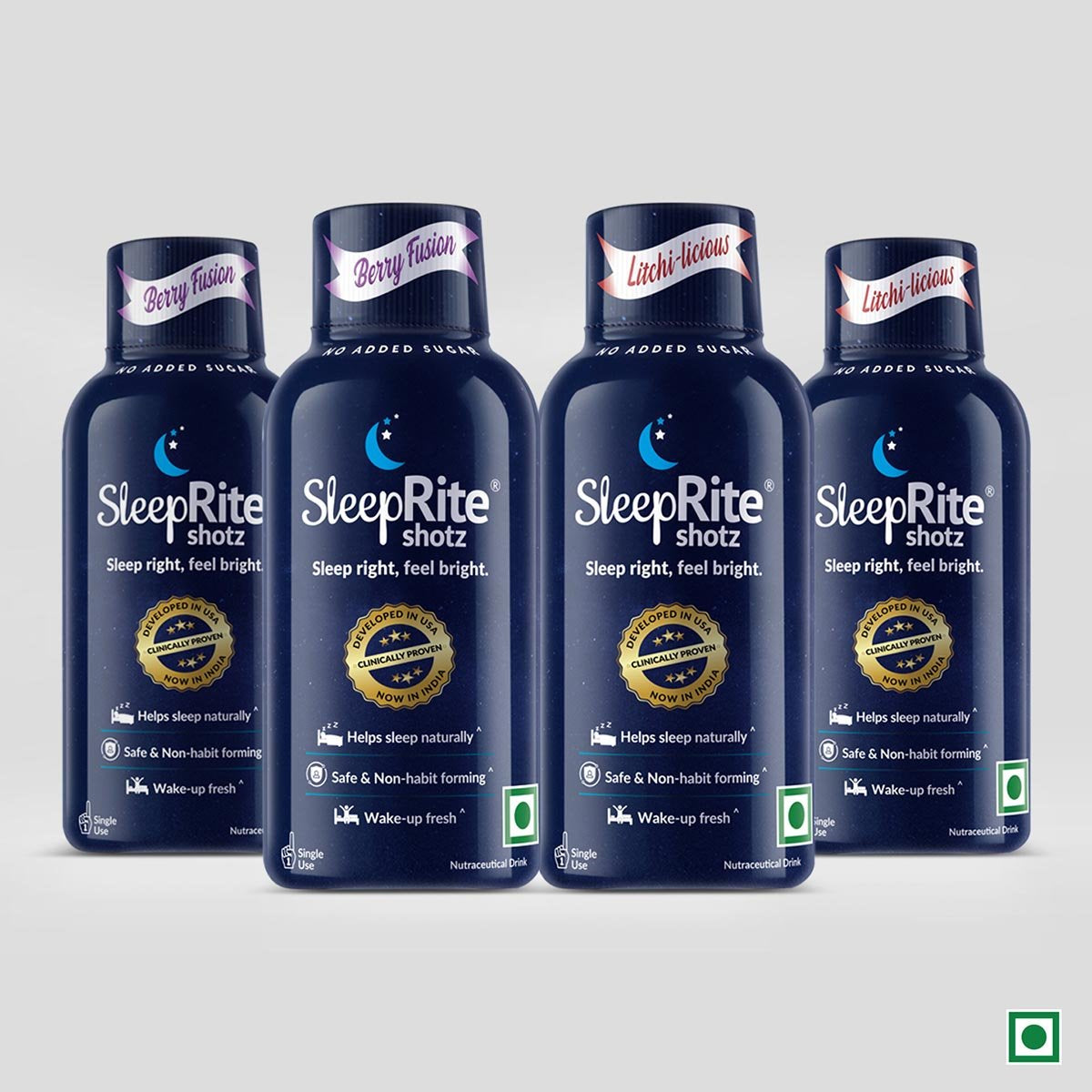 Sleeprite Shotz (Berry Fusion & Litchi Licious) (Pack of 4)