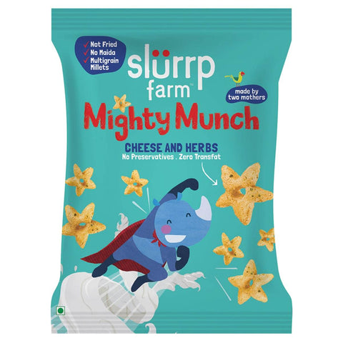 Healthy Snacks - Mighty Puff, Cheese & Herbs Flavor - (Pack of 10)