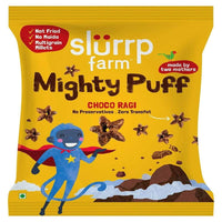 Healthy Snacks - Mighty Puff, Choco Ragi Flavor ( Pack of 10)