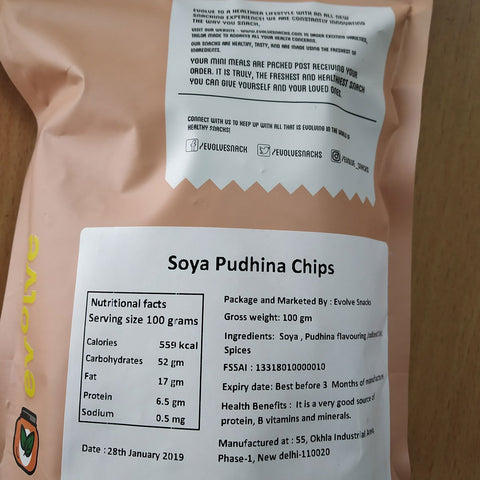 Soya Pudina Chips  (Pack of 3 )