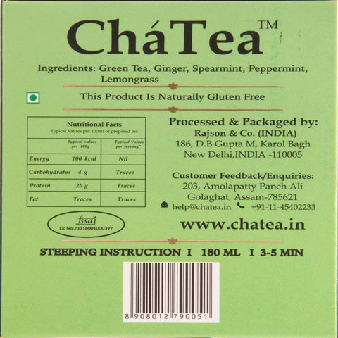 Sparkling Ginger Mint Green Tea Bags