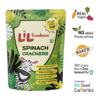 Spinach Crackers - Pack of 4, 4 x 30 gm