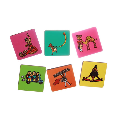 Coaster Set (Spirit of India) - Set of 6
