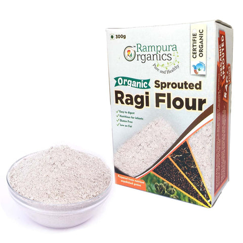 Sprouted Ragi Flour (Rampura) - (Pack of 2),  2 x 300 g