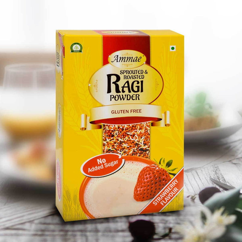 Sprouted Ragi Powder (Strawberry) (Pack Of 3)