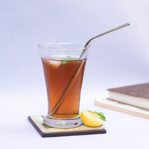 Stainless Steel Straw Skinny (Bent)